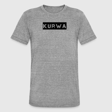 Kurwa kurwa - T-shirt chiné Bella + Canvas Unisexe