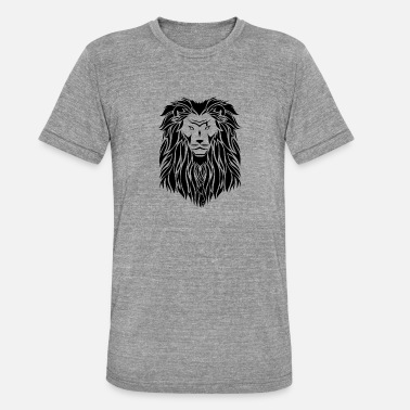 lion noir - T-shirt chiné unisexe