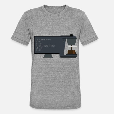 Program Schedule Programming coffee - Unisex Tri-Blend T-Shirt by Bella & Canvas