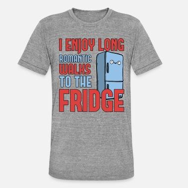 600d8e404 Wacky Funny Food Lover Enjoy Long Walks to the Fridge - Unisex Tri-Blend T