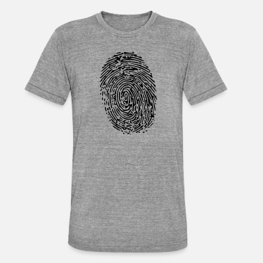 Fingerprint fingerprint - Unisex Tri-Blend T-Shirt by Bella & Canvas