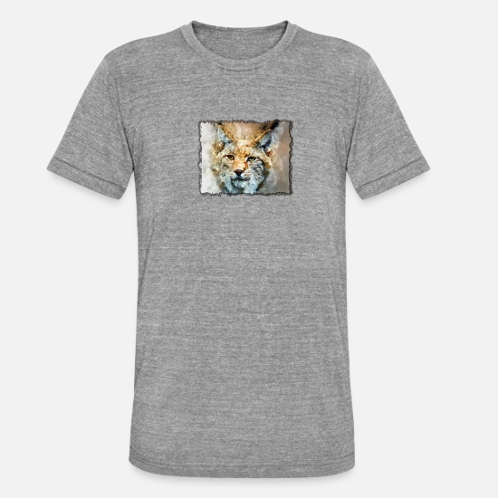 Image T-Shirts - Tiger in the frame - Unisex Tri-Blend T-Shirt heather grey