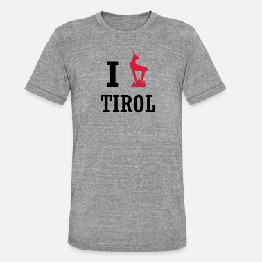 I Love Tirol I Heart Tirol love - Unisex Tri-Blend T-Shirt