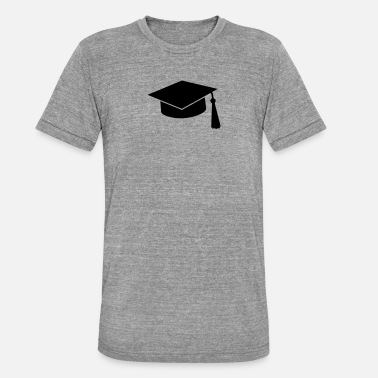 University graduation hat - Unisex Tri-Blend T-Shirt