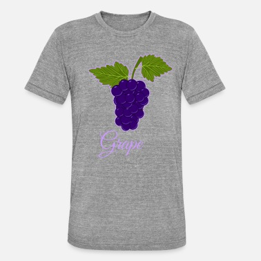 Grape Grape berry vine grape cartoon gift idea - Unisex Tri-Blend T-Shirt