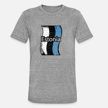 Estonia Estonia - Maglietta unisex tri-blend di Bella + Canvas