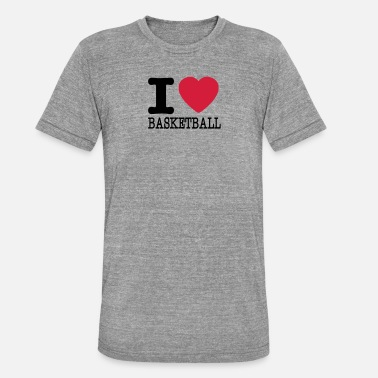 I Love Basketball I love basketball / I love basketball - Unisex Tri-Blend T-Shirt