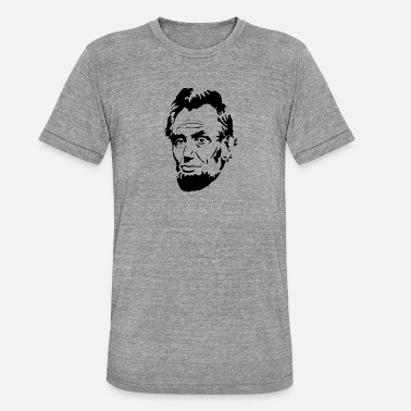 Lincolnshire Face of President Abraham Lincoln - Unisex Tri-Blend T-Shirt