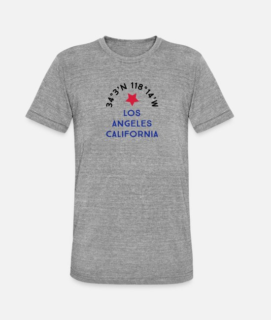 Los Angeles Camisetas - los Angeles - Camiseta triblend unisex gris jaspeado