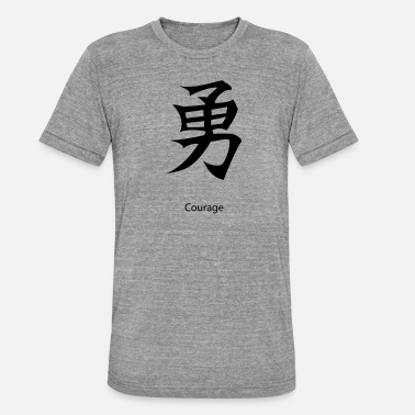 Courage kanji Courage - Maglietta unisex tri-blend di Bella + Canvas