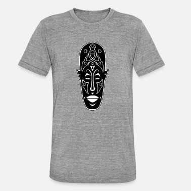 Design Africain Masque africain étrange - T-shirt chiné Bella + Canvas  Unisexe 263eca8244f