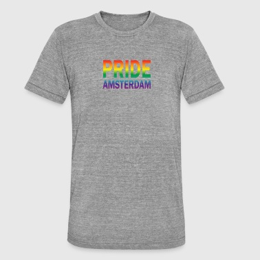 Pride Amsterdam in rainbow color - Unisex Tri-Blend T-Shirt by Bella & Canvas