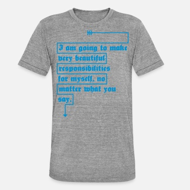 What very beautiful - Unisex Tri-Blend T-Shirt by Bella & Canvas