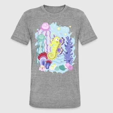 The Majestic Magic Seahorse Corner - Unisex tri-blend T-skjorte fra Bella + Canvas