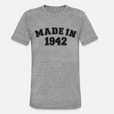 1942 Made in 1942 - Maglietta unisex tri-blend di Bella + Canvas