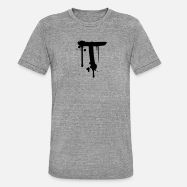 Graffiti T Graffiti spray drops Farbklex - Unisex Tri-Blend T-Shirt