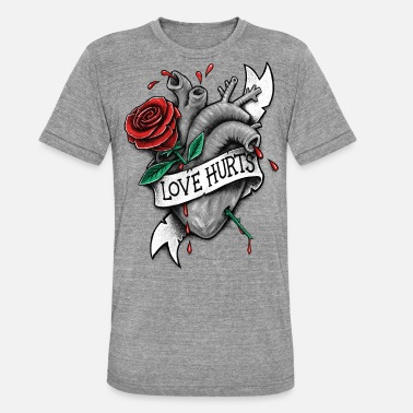 Love Hurts Love Hurts - Unisex Tri-Blend T-Shirt