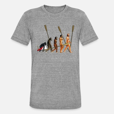 Association Evolution of Rowers - Unisex Tri-Blend T-Shirt