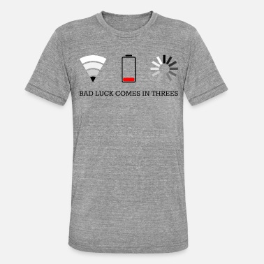 Video Buffer triple bad luck - Unisex Tri-Blend T-Shirt