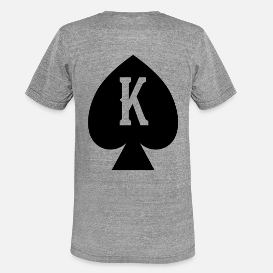 Love T-Shirts - King Pik / King Queen Duo - Unisex Tri-Blend T-Shirt heather grey