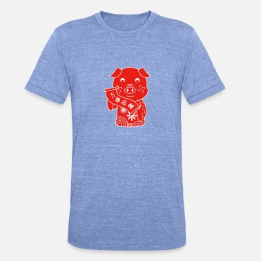 Chinese New Year Year of the pig - Chinese traditional - Unisex Tri-Blend T-Shirt