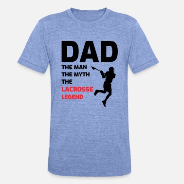 Tirar Lacrosse Player Dad Fathers Day Gift - Hobby divertido - Camiseta triblend unisex