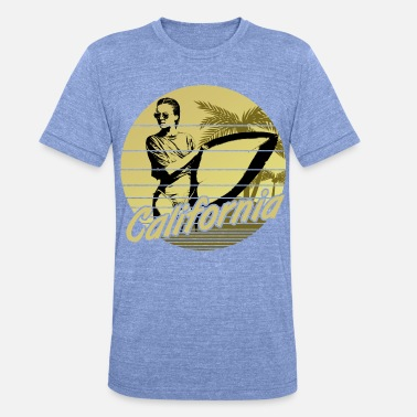 Los Angeles California Surfergirl Yellow - Unisex T-Shirt meliert