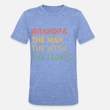 Funny Grandfather Grandfather Father's Day Gift Dad Funny saying - Unisex Tri-Blend T-Shirt