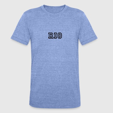 Río Río - Camiseta Tri-Blend unisex de Bella + Canvas