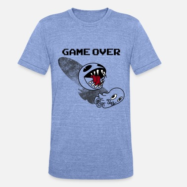 Pac Man PAC MAN - Game Over - Unisex tri-blend T-shirt van Bella + Canvas