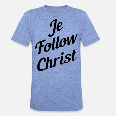 Christ je follow christ - T-shirt chiné unisexe