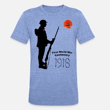 Ww1 Centenary First World War 1918 - Unisex Tri-Blend T-Shirt by Bella & Canvas