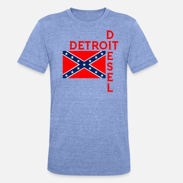 Southern Detroit Diesel with Redneck Southern Logo - Unisex Tri-Blend T-Shirt