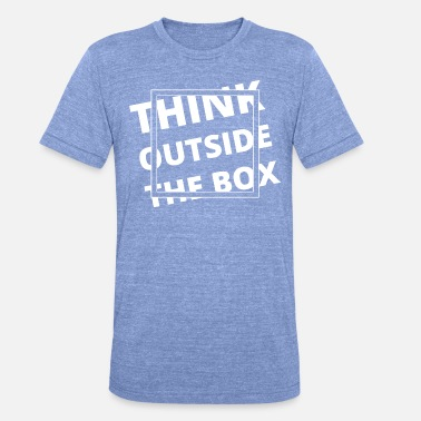 Thinking Motivatie - Denk buiten de gebaande paden - Unisex tri-blend T-shirt van Bella + Canvas