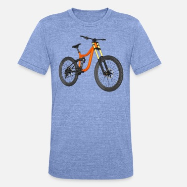 Bike Downhill Bike, Mountain Bike, Cykel - Unisex triblend T-shirt