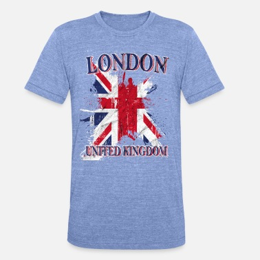 London Union Jack Flagge London -Union Jack - Unisex T-Shirt meliert