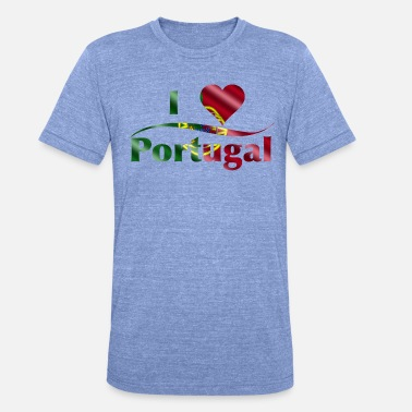 Portuguese I love Portugal - Unisex Tri-Blend T-Shirt by Bella & Canvas