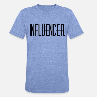 Influence Influencer - T-shirt chiné Bella + Canvas Unisexe