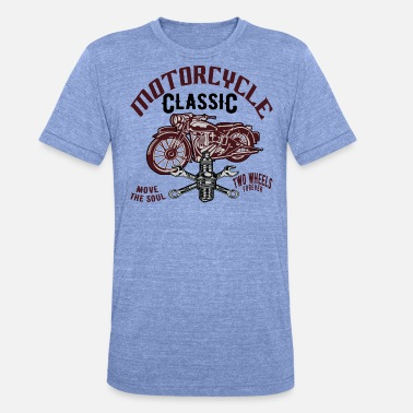Motorcycle Motorcycle Mechanic Bike Classic, Shirt Oldtimer - Unisex Tri-Blend T-Shirt