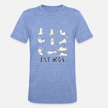 Fitness Cats Yoga Fitness - Mantra - Karma - Miaou - Chat - T-shirt chiné unisexe