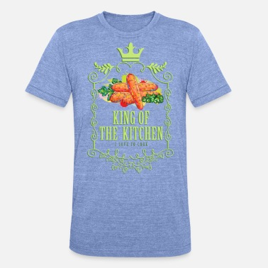 Cook king_of_the_kitchen_02201603 - Unisex T-Shirt meliert