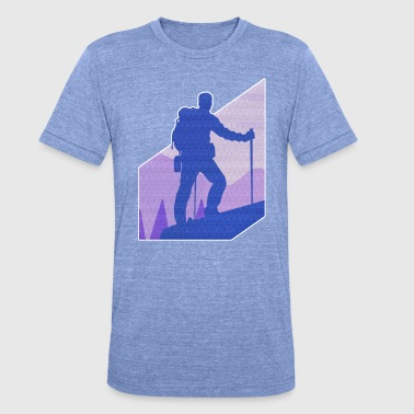 Sports Nature hiking sport gift mountain - Unisex Tri-Blend T-Shirt by Bella & Canvas