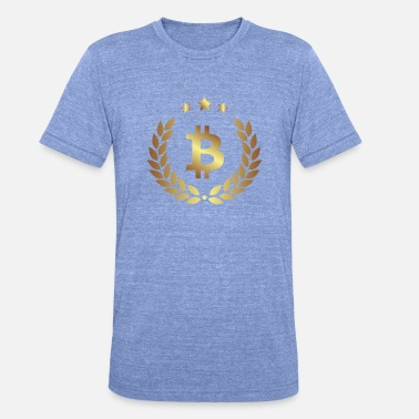 Bitcoin currency gold sign - Unisex Tri-Blend T-Shirt