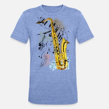 Sax saxofoon Magic - Unisex triblend T-shirt