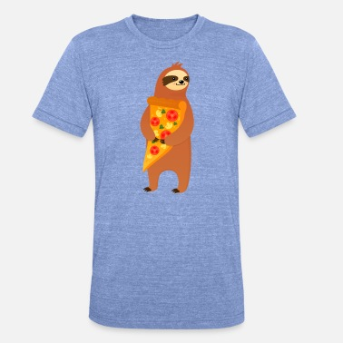 Relx Sloth With Pizza Slice - Unisex Tri-Blend T-Shirt