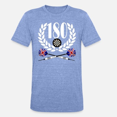 180 Darts Darts 180 - Unisex Tri-Blend T-Shirt von Bella + Canvas
