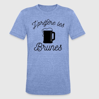 Brunei Preferisco le brune, - Maglietta unisex tri-blend di Bella + Canvas