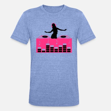 Electronica DJ Dance Electronica Klubb Deejay sexy Girl - Unisex Tri-Blend T-Shirt