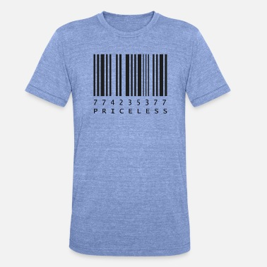 Priceless barcode - Unisex Tri-Blend T-Shirt