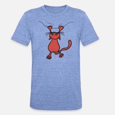 Rood Wild Wilde kat rood - Unisex triblend T-shirt